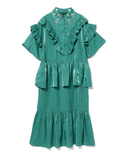 sister jane / Medallion Ruffle Maxi Dress