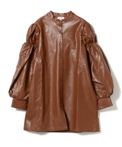 GHOSPELL / Fake Leather Shirts Dress