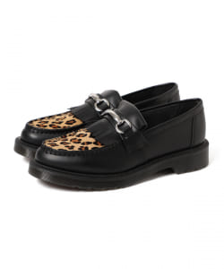 Dr.Martens / CORE PRINT ADRIAN SNAFFLE LOAFER LEOPARD