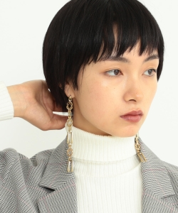 Ray BEAMS / コンビ チェーン ロング ピアス