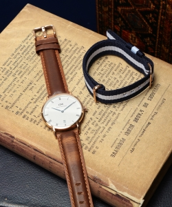 DANIEL WELLINGTON / Dapper ローズゴールド 34mm case SET