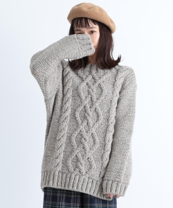 CAROLINA GLASER / 手編み ローゲージ ニット