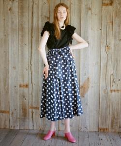 CAROLINA GLASER / 2WAY ぺプラム ドットスカート