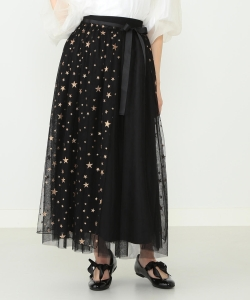 CAROLINA GLASER / 2WAY 星チュール マキシスカート