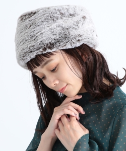 CAROLINA GLASER / もふもふ ロシアン帽