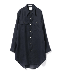 MADISONBLUE / HAMPTON LINEN LONG SHIRT●