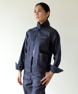 MADISONBLUE / SHORT COVERALL DENIM●