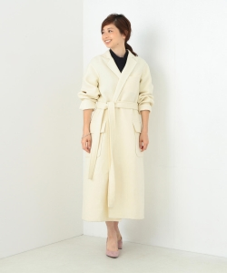 MADISONBLUE / W-FACE WOOL GOWN COAT●