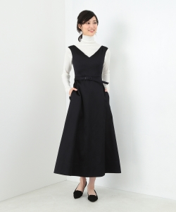 MADISONBLUE / NECK CAP SLEEVE BELTED DREES