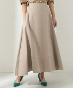 MADISONBLUE / BACK SATIN MAXI FLARE SKIRT●