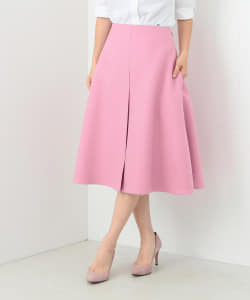 MADISONBLUE / BOX PLEATS WOOL MI-MOLEET SKIRT●