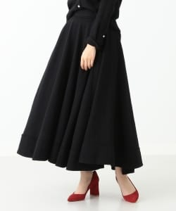 MADISONBLUE / TUCK CIRCULAR SKIRT WOOL VIYELLA●