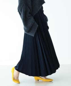 【BAILA12月号掲載】【CLASSY.11月号掲載】Demi-Luxe BEAMS / ベロア プリーツスカート