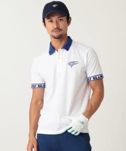 BEAMS GOLF ORANGE LABEL / LOGOテープ ポロシャツ