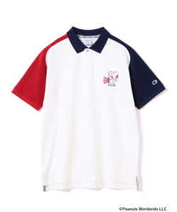 Champion×SNOOPY×BEAMS GOLF / 別注 US FLAG ポロシャツ