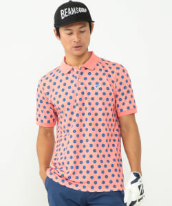 BEAMS GOLF ORANGE LABEL / NEW フラワー ポロシャツ