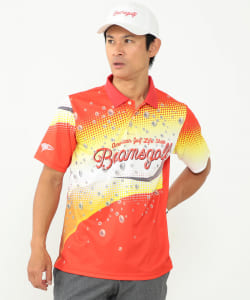 BEAMS GOLF ORANGE LABEL / DRINK パターン ポロシャツ