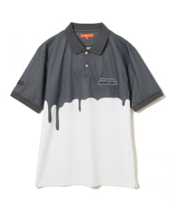<UNISEX>BEAMS GOLF ORANGE LABEL / Dripping ポロシャツ