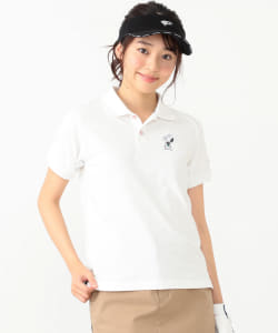 【予約】<WOMEN>Champion×SNOOPY×BEAMS GOLF / 別注 HERO ポロシャツ