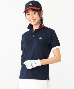 <WOMEN>LACOSTE×BEAMS GOLF / 別注 エリTRICO ポロシャツ