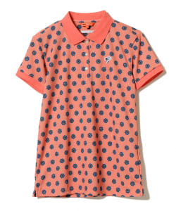 <WOMEN>BEAMS GOLF ORANGE LABEL / NEW フラワー ポロシャツ