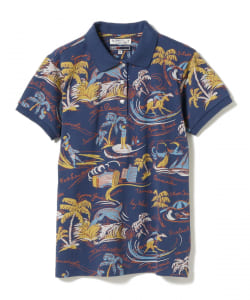 <WOMEN>SUN SURF×BEAMS GOLF / 別注 FLORIDA ポロシャツ