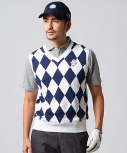 BEAMS GOLF PURPLE LABEL / ダイヤ柄ベスト