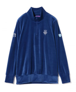 BEAMS GOLF PURPLE LABEL / RETURN BRITISH べロア ハーフジップ シャツ