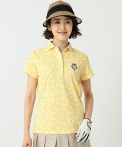 BEAMS GOLF PURPLE LABEL / 花柄 ポロシャツ