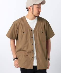UNIVERSAL OVERALL × B:MING by BEAMS / 別注 ノーカラー シャツ