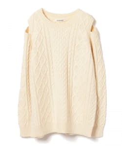 OUTERSUNSET / Shoulder open cable knit