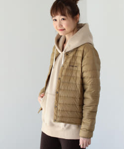 mont-bell × B:MING by BEAMS / 別注 ラウンドネック ダウンジャケット 20AW <WOMEN>