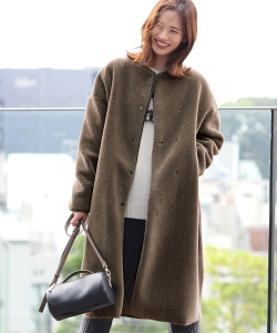 【InRed12月号掲載,中村アン着用】B:MING by BEAMS / ボア ロングコート 19AW