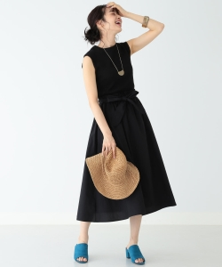 B:MING by BEAMS / テレコ×布帛 コンビワンピース 19SS