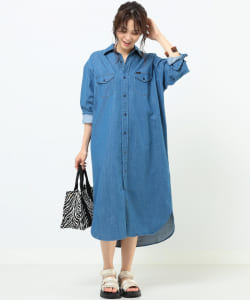 Lee × B:MING by BEAMS / 別注 ロング シャツワンピース 20SS