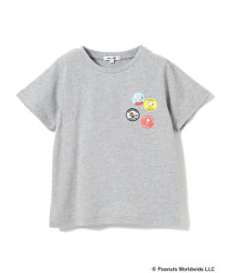B:MING by BEAMS / Peanuts 缶バッチ プリントTシャツ 19SS